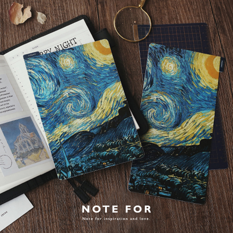 Van Gogh Painting Theme Ruler Board For Diary A5 A6 TN WEEK 1 Sheet DIY Journal Planner Supplies Gift