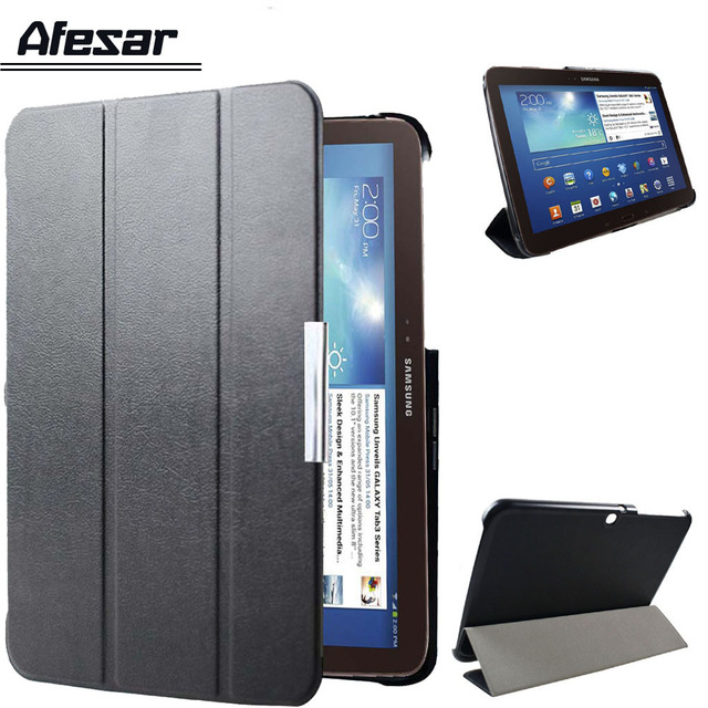 GT P5200 P5210 P5220 ultra slim smart Flip soporte de la cubierta de la caja de cuero para Samsung Galaxy Tab 3 10,1 libro folio cubierta autosleep