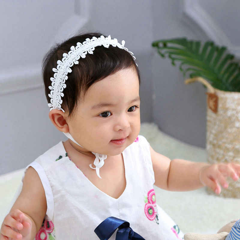 Flor niña corona Floral bebé diademas flor diadema de encaje Niña bautismo bebé diadema bautizo accesorios para el cabello HB321D