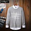 Blusas cashmereLong manga del nuevo fondo de 2016 inviernos del otoño pullovers contrajo el original jacquard suéter Lobo garra