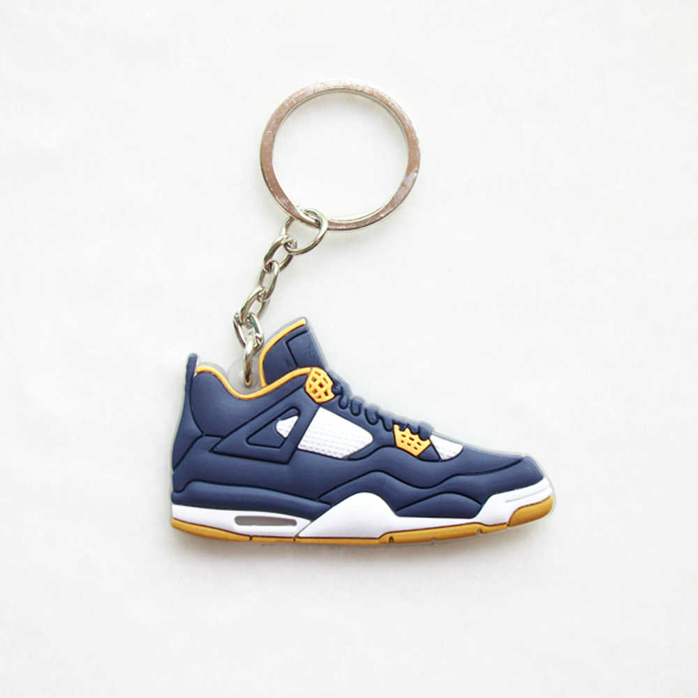 cf79db72c Mini Silicone Jordan 4 Keychain Bag Charm Woman Men Kids Key Ring Gifts  Sneaker Key Holder