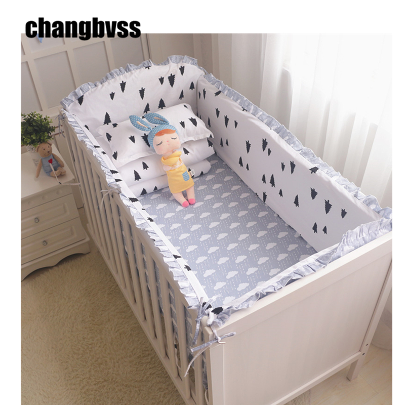 9PCS New Bedding Set In a Crib For Newborns, Bed Sheet Pillow Baby Quilt Bumpers In The Cot, Baby Bedding In The Crib Cot Set promotion 6pcs baby bedding set cot crib bedding set baby bed baby cot sets include 4bumpers sheet pillow