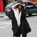 2017 New arrival winter women plus velvet down jackets 4 colors loose long sleeves thick warm jackets soft fur collar jackets