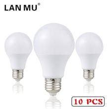 LAN MU 10PCS LED Bulb E27 1W 3W 5W 7W 9W 12W 15W SMD 2835 Real Power Led Light Bulb AC 220V Cold Warm White Led Spotlight Lamp xunruixing p 005 e27 5w 320lm 8350k 20 smd 2835 led cool white light bulb white ac 220v