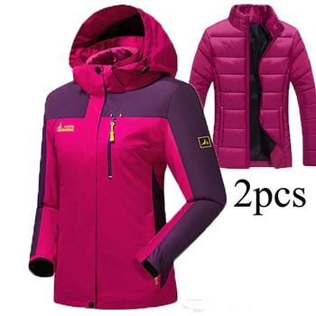2017 Men Winter Warm Inside Fleece Softshell Hiking Jackets Outdoor Thermal Brand Clothing Waterproof Camping Male Skiing Coats