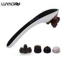 Electric Cervical Vertebra Massager Device.Vibrating Kneading Shoulder Back Neck Massager.Infrared Shiatsu Body Massage