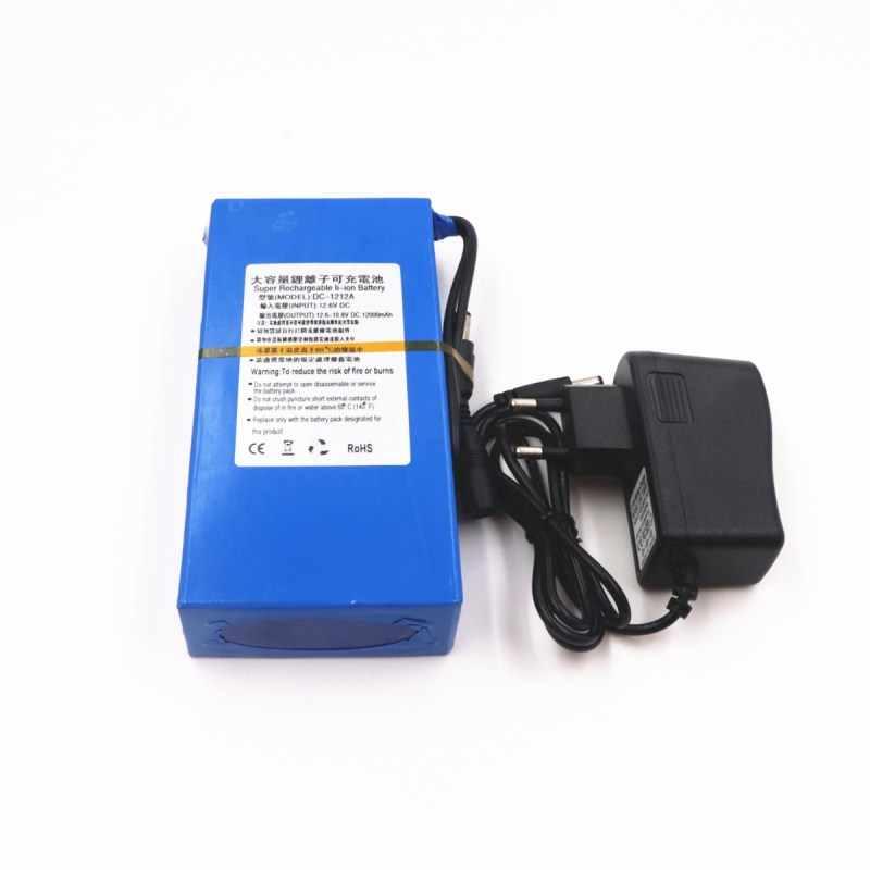 100% прочный DC 12 V 12000 MAH высокой емкости литий-ионная аккумуляторная батарея Зарядное устройство переменного тока (US/eu-разъем, хит продаж Акция Бесплатная Прямая поставка