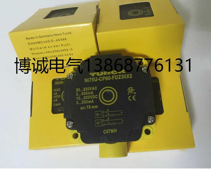 NI75U-CP80-FDZ30X2 Turck Proximity Switch Sensor New High QualityNI75U-CP80-FDZ30X2 Turck Proximity Switch Sensor New High Quality
