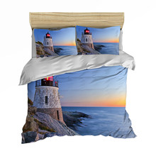 3D Print Duvet Cover Set, Lighthouse Bedding Set Blue Sea Tower 3/4pcs Bedspreads Boy Girl Teens kid bedlinens(China)
