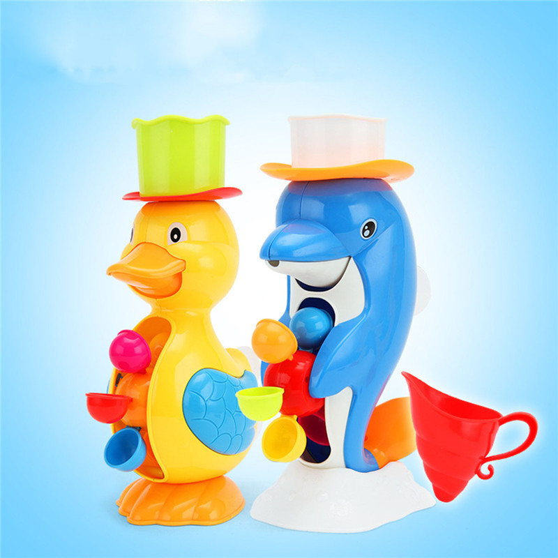 Toy Cute Waterwheel Cartoon Dophin 1 Set Baby Faucet Bathing Water Spraying Tool Wheel Type Dabbling Toys Kids Shower Bath Toys