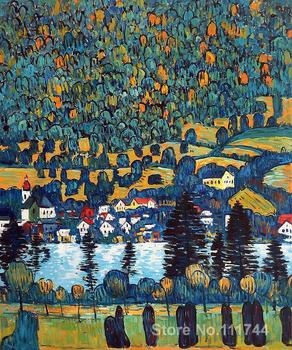 Modern art landscape Pendio Montano a Unterach Gustav Klimt oil painting replicas High quality Hand painted