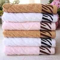 2 pcs/lot 35x75cm Leopard Pattern Printed Bath Room Cotton Hand Face Towels