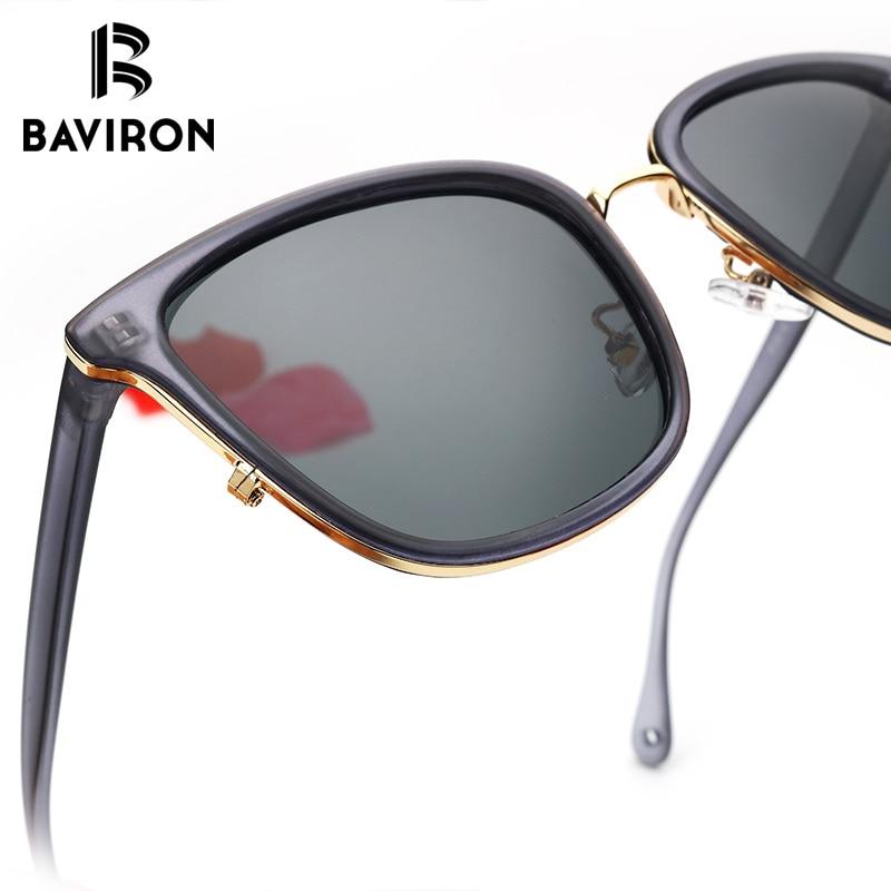 BAVIRON New Arrival Sun Glasses for Women Square Style Popular Sunglasses Female Polarized Lenses TR90 Eyewear Google UV400