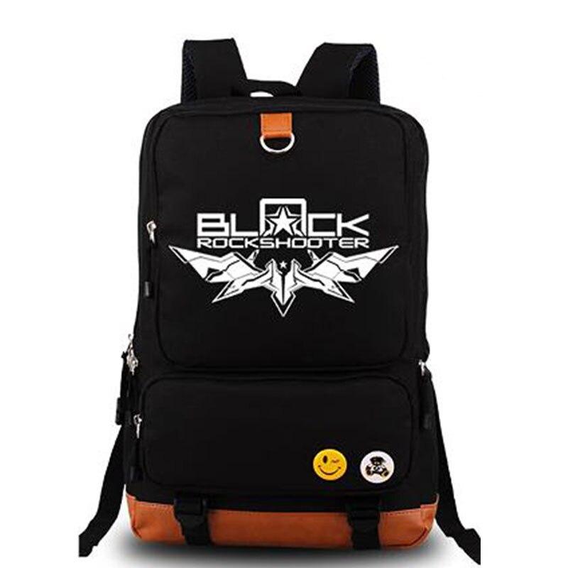 Anime noir Rock Shooter Cosplay toile voyage sacs à dos garçons sac à dos étudiants livre sacs sac de jour
