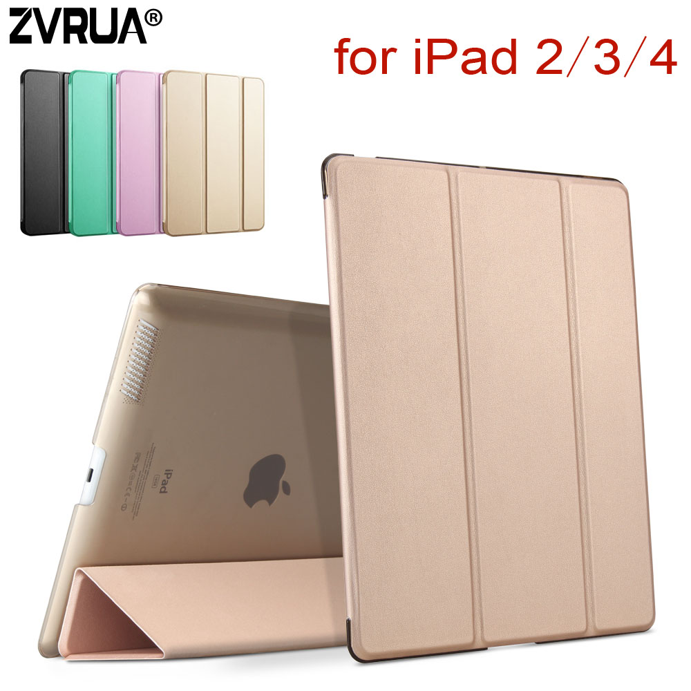 Per iPad 2 3 4, ZVRUA YiPPee Color PU Smart Case Cover magnete svegliarsi sonno Per apple iPad2 iPad3 iPad4