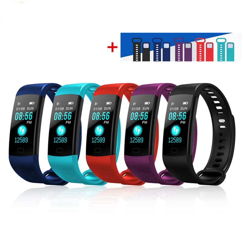 Hangrui Y5 Smart Bracelet Fitness Tracker Heart Rate Tracker Waterproof Sport Smart Wristband + Y5 Electronic Wristband Strap 16