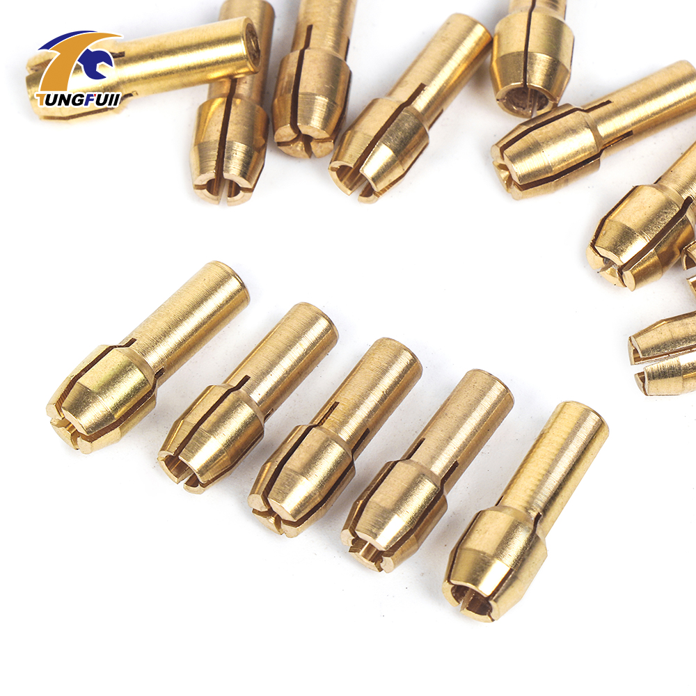 Tungfull Power Tools Woodworking Set 15Pcs/set Mini Drill Brass Collet Chuck Dremel Style Accessories Grinding For Rotary Drill 3 pcs lot 1 5 to 13mm capacity heavy key type drill chuck adapter for rotary hammer makita power tools accessories 1 power tools