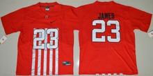 2016 NIKE Ohio State Buckeyes Lebron James 23 College Ice Hockey Jerseys Alternate Elite Jersey - Red Size S,M,L,XL,2XL,3XL(China)