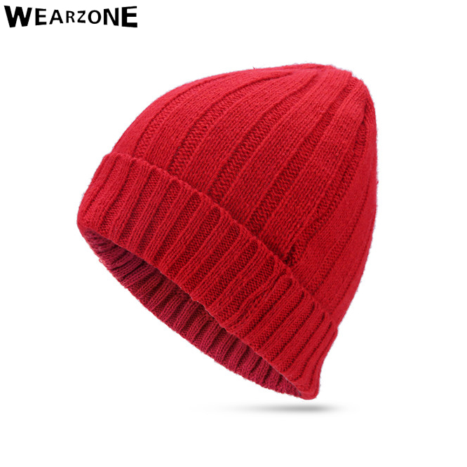 New Arrivals Fashion Men Women Warm Snow Winter 40%wool Casual Beanies Solid 4 Colors Favourite Knit Hat Cap Hip Hop Casual Male pentacle star warm skull beanie hip hop knit cap ski crochet cuff winter hat for women men new sale