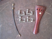 1 PC rosewood Violin tail piece 4/4 with Silver Fine tuners and tail gut