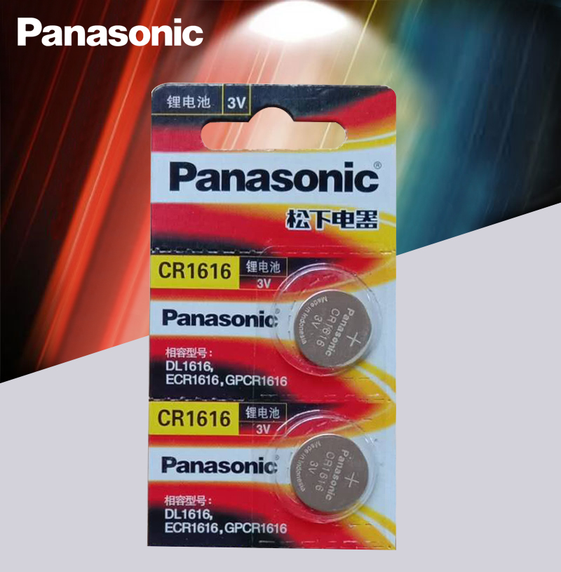 CR1616 2PCS Button Cell Coin Batteries Panasonic 100% Original Cr 1616 3V Lithium Battery DL1616 ECR1616 LM1616