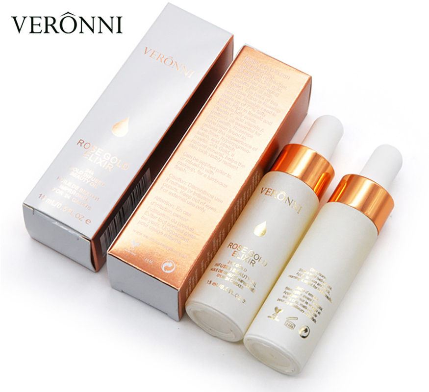 VERONNI 24k Rose Gold Elixir Skin Make Up Oil For Face Essential Oil Before Face Oil Anti aging Primer Foundation Moisturizing in Primer from Beauty Health