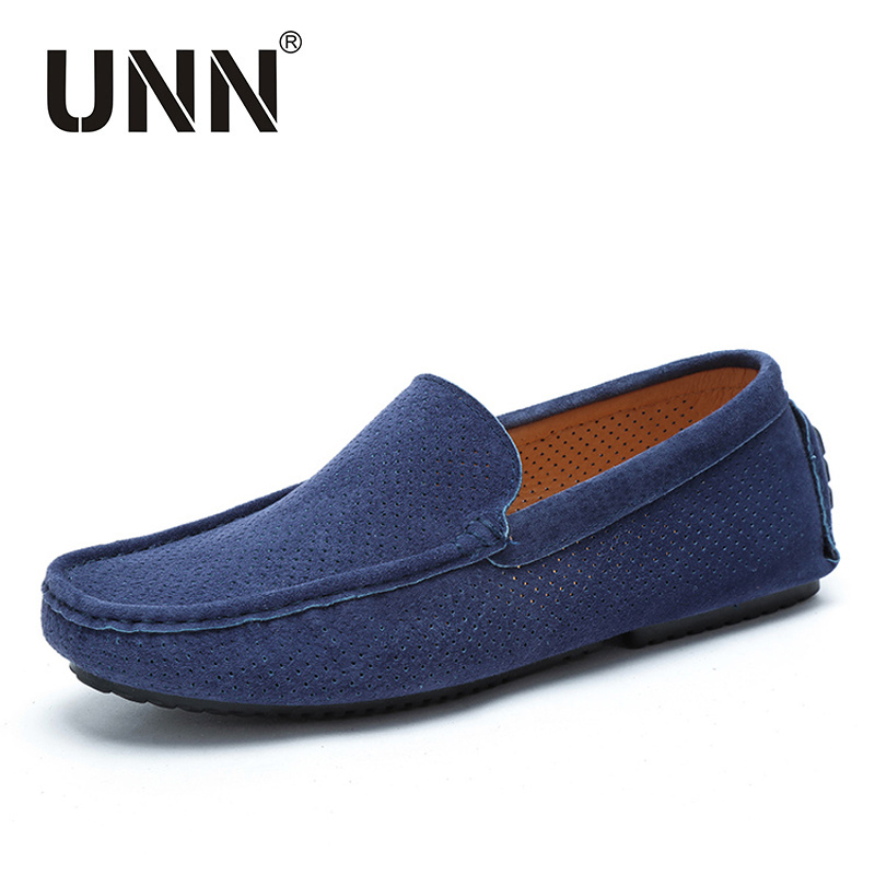 2017 Summer Loafers Men Shoes Casual Genuine Leather Flats Shoes Soft Male Moccasins Breathable Slip on Driving Boat Shoes купить