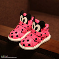 New 2015 autumn witer kids shoes girls cute Polka Dot Mickey cotton Shoes children's sports shoes Baby casual Shoes sneakers