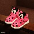 Nuevo 2015 otoño witer niños zapatos niña lunar lindo Mickey algodón de los niños zapatos de calzado deportivo calzado casual zapatillas de deporte