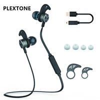 PLEXTONE Bluetooth Słuchawki Słuchawki Metal Magnet Sport Running Audifonos Słuchawki Mikrofon Słuchawki Douszne Bass Słuchawki Douszne