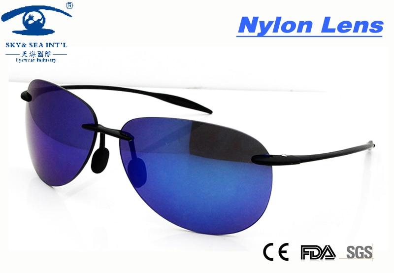 New sin montura gafas de sol al aire libre deportes gafas de sol para los hombre