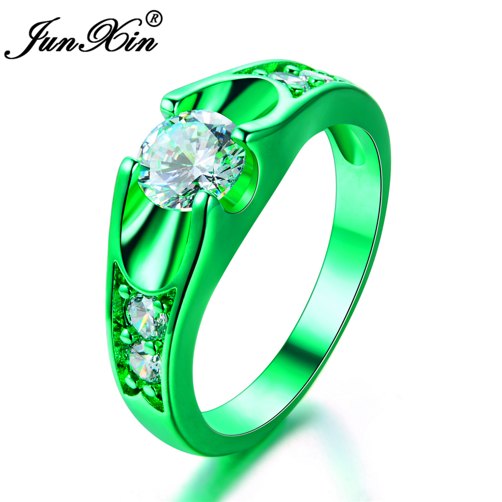 fullxfull engagement emerald personalized shaped wedding diamond rings gem gold green halo rose stone him ring bridal pear her custom for il cksy