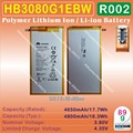 [HB3080G1EBW] 3.8 v 4650 mah/4800 mah li-polímero recargable de iones de litio móvil/tablet pc batería para huawei s8-701w/u