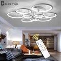 Черный и белый современный светодиодный потолочный светильник для спальни гостиной столовой лампы светодиодные люстры потолочные светиль...