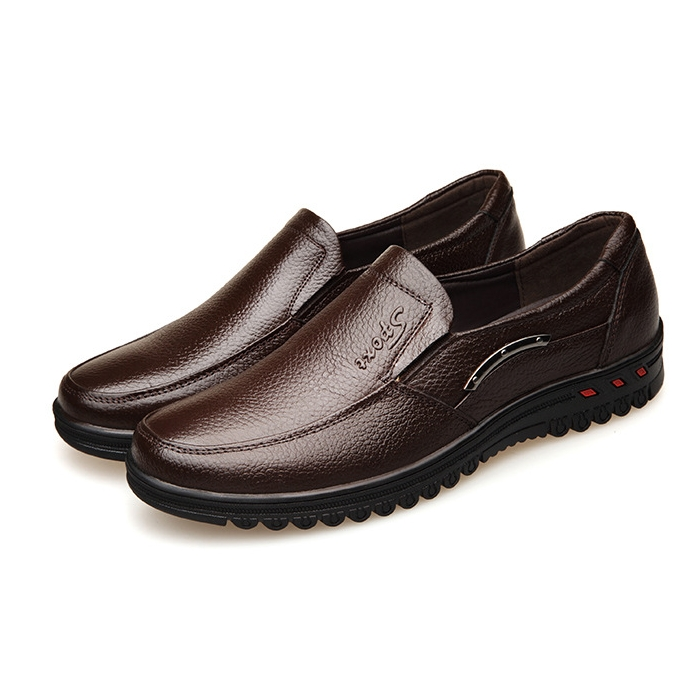 Mens Casual Shoes Brown Black Mens Handmade Loafers Genuine Leather Mens Moccasin Summer Walking Shoes DA0113 in Men 39 s Casual Shoes from Shoes