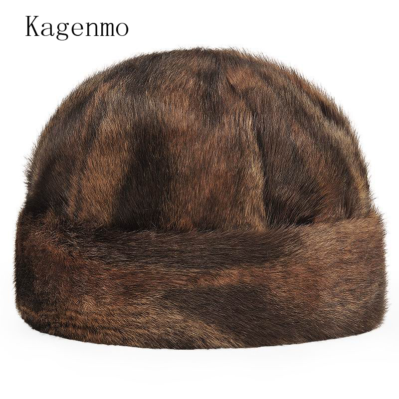 Kagenmo Quinquagenarian hat male winter thickening warm hat ear  cotton cap imitation mink landlord hat cap kagenmo spring and autumn warm ear protection baseball cap upset cotton hat russian love 5color 1pcs brand new arrive