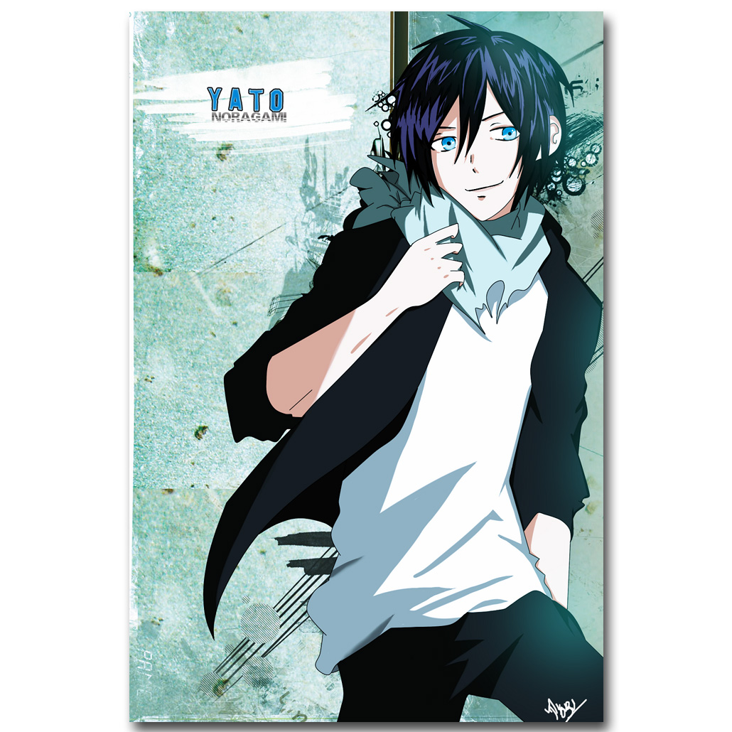 Noragami anime art kain sutra cetak poster 13x20 24x36 inch yato yukine iki hiyori gambar untuk living room wall decor hadiah 007 di painting calligraphy