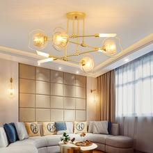 купить Post-modern LED novelty pendant light nordic loft fixtures Iron deco lighting living room hanging lights bedroom suspended lamps по цене 14999.72 рублей