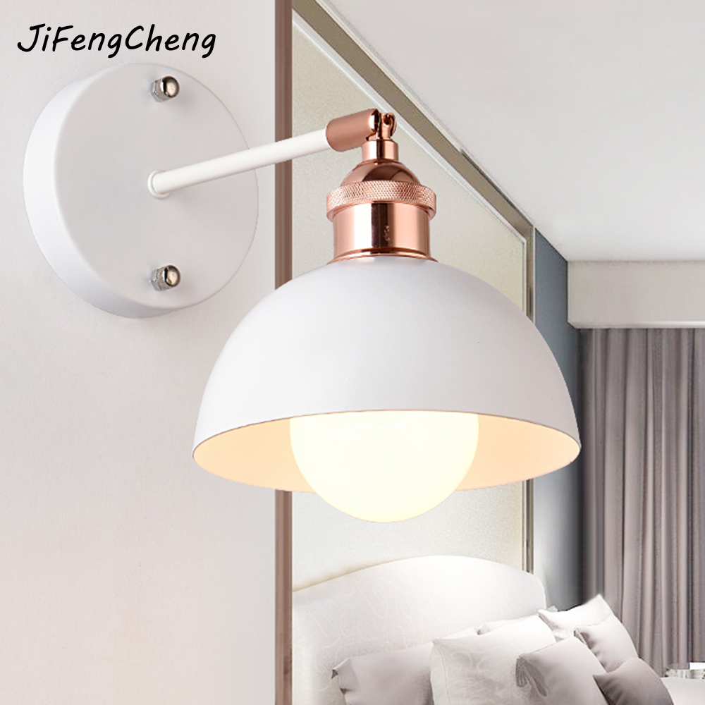 JIFENGCHENG Modern Minimalist Living Room Lamp Color Bedroom Bedside Wall Lamp Industrial Staircase Aisle Wall Lamp Luminaria modern acrylic led wall lights bedroom bedside wall lamp lampara de pared bed room decoration lighting wall sconces