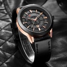 купить CURREN Sports Watches Men Fashion Army Quartz Watches Casual Waterproof Wristwatch Male Leather Calendar Clock Relogio Masculino по цене 1165.83 рублей