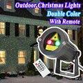 Открытый Украшения Сада Водонепроницаемый IP44 Рождество Лазерный Свет Звезды Проектор Душ Красный Зеленый Статическая Мерцание С ИК-Пульт Дистанционного