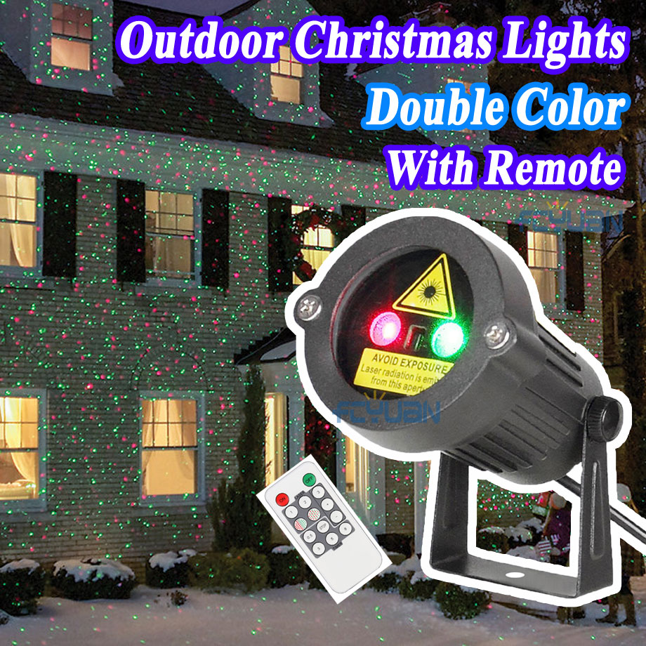Outdoor Garden Decoration Waterproof IP44 Christmas Laser Light Star Projector Showers Red Green Static Twinkle With IR Remote outdoor garden decoration waterproof elf christmas lights star laser projector showers lantern flashlight stage light