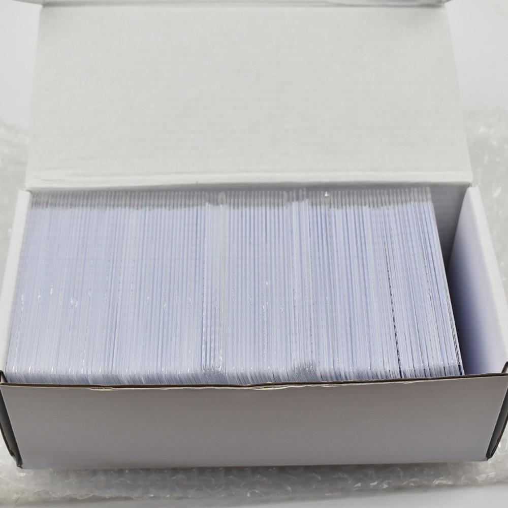 200pcs lot ATMEL T5577 T5557 blank Thin pvc proximity Card rewritable RFID 125KHz