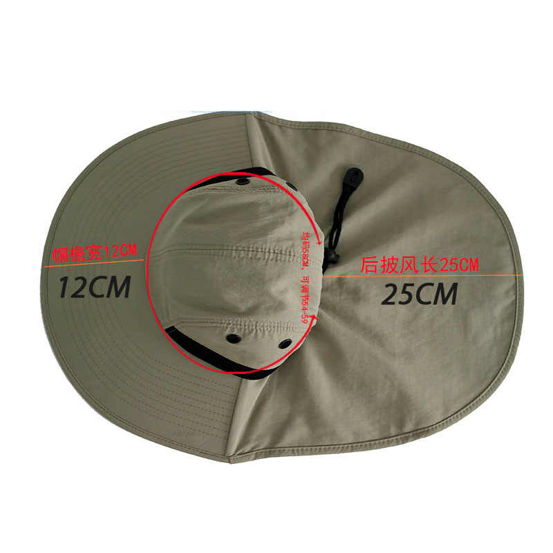 fae6fc33d3f650 ... Fishing Hats for Large Head Men Women Wide Outdoor Activity Sun  Protection UV Blocking Waterproof Head ...