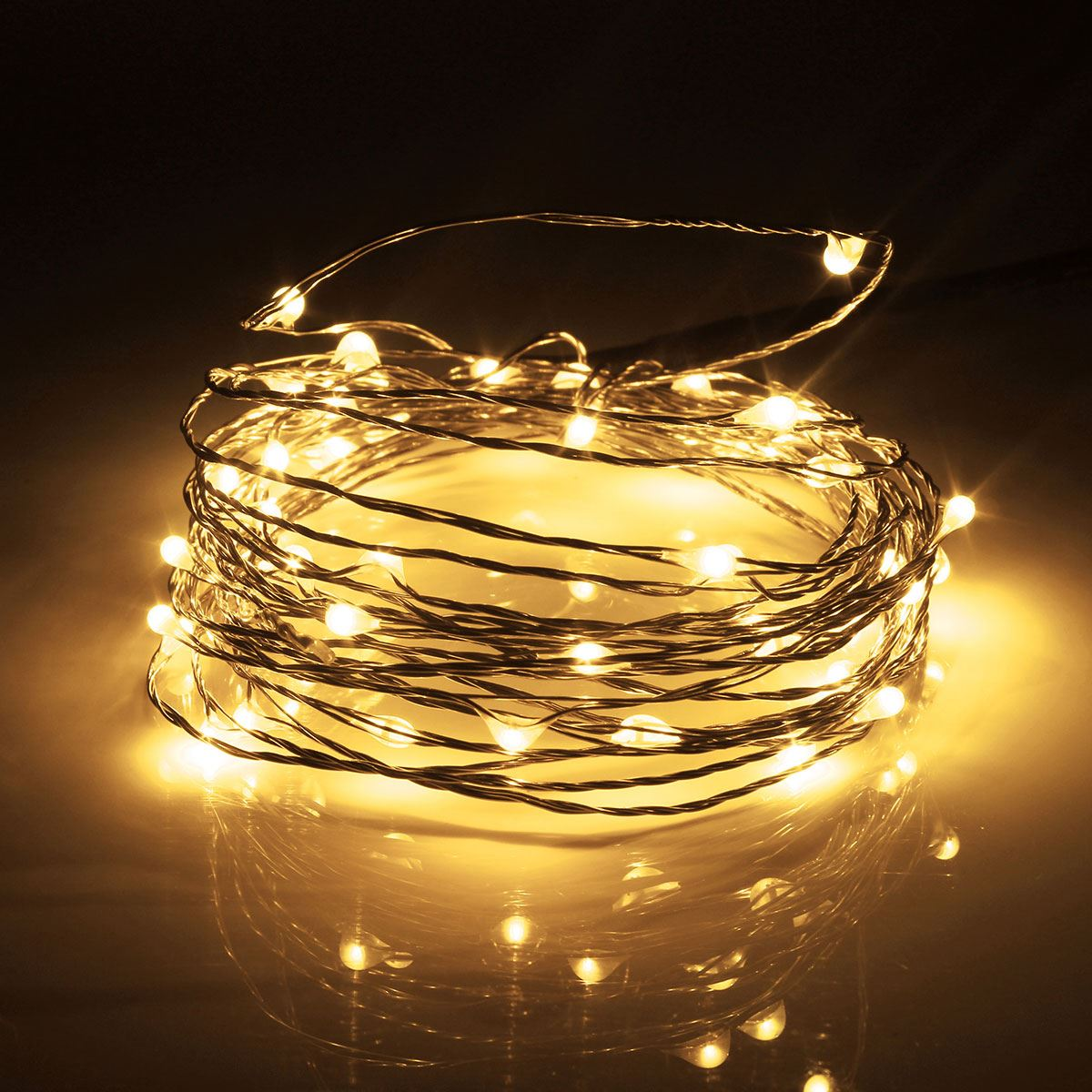 5M 50Leds  Fairy Lamp RGB Light String Strip Copper Wire Battery Box Party Xmas