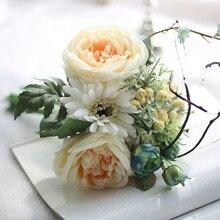 Artificial Gerbera Flower Rose Plants Decorative Floral Bouquet for Wedding Party Home Decor Hot Sale