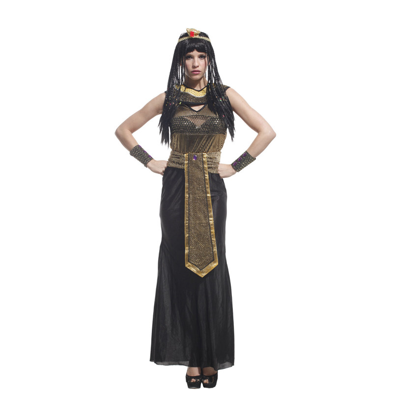 Adult Ancient Egypt Egyptian Empress Queen Halloween Costume 3