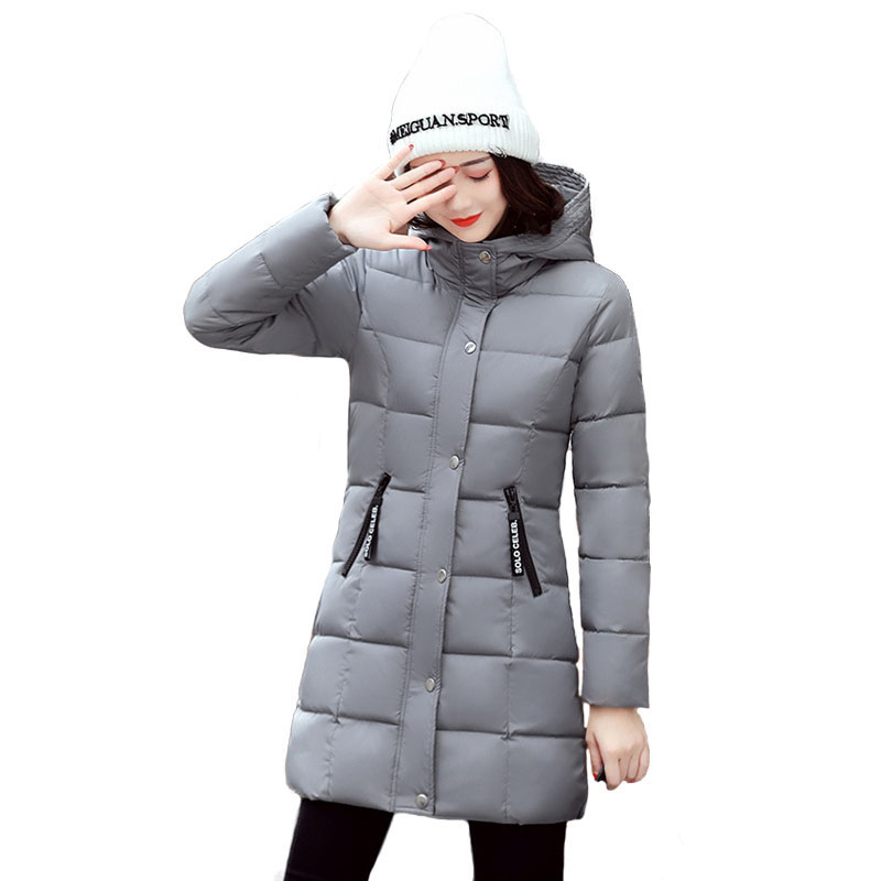 Parka Mujer Women Jacket Winter Thicken Warm Down Cotton Padded Wadded Coat Ladies Mid-Long Quilted Jackets Casual Big Size 3XL winter jacket women coats big fur collar down wadded jacket female cotton padded jackets thicken winter coat women parka mujer