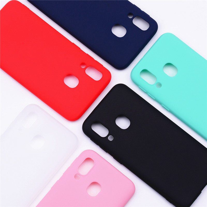 For Phone Case Samsung Galaxy A40 Case Soft TPU Candy Color Silicone Case For Fundas Samsung A40 A 40 Case Cover Coque