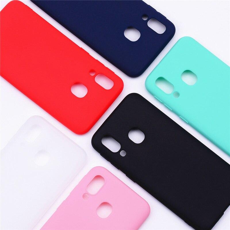 Pour Coque de téléphone Samsung Galaxy A40 Coque souple TPU couleur bonbon Coque en silicone pour Fundas Samsung A40 A 40 Coque de protection